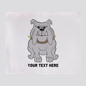 Bulldog personalized Throw Blanket