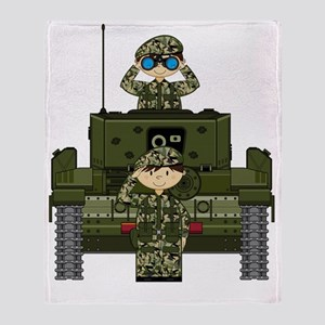 Army Pad22 Throw Blanket