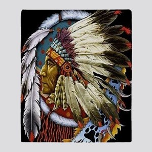 CHIEF WHITE CLOUD Throw Blanket