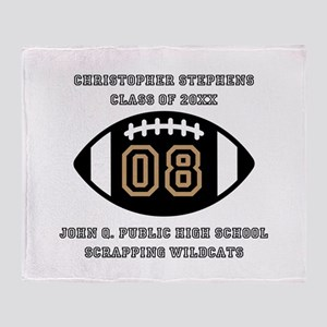 Custom Football Player Name | Class Throw Blanket