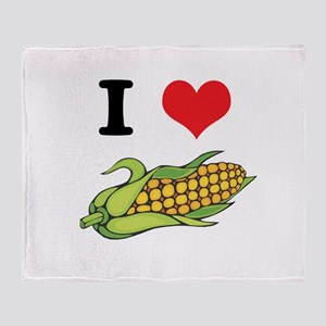 I Heart (Love) Corn (On the C Throw Blanket
