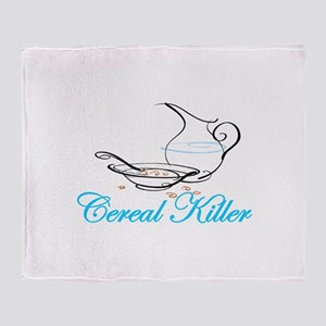 Cereal Killer Throw Blanket