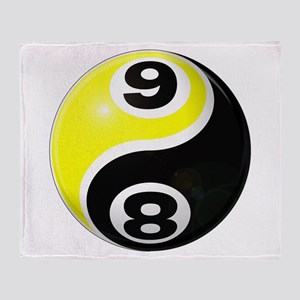 8 Ball 9 Ball Yin Yang Throw Blanket