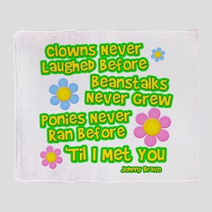 Clowns Never Laughed Before Throw Blanket