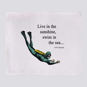 Sea Scuba Diver Throw Blanket