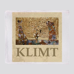 Gustav Klimt Tree Of Life Throw Blanket