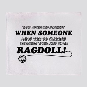 Funny Ragdoll designs Throw Blanket