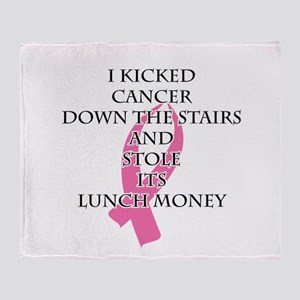 Breast Cancer Bully Throw Blanket