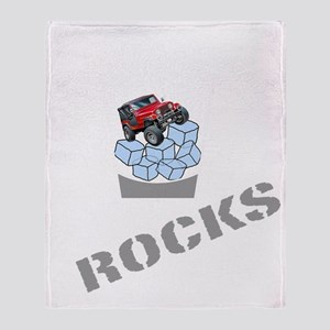On The Rocks Whiskey WHITE Throw Blanket