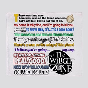 Twilight Zone Quotes Throw Blanket