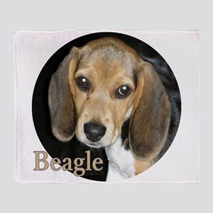 Close Up Beagle Puppy Throw Blanket