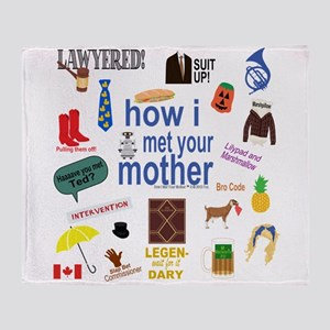 HIMYM Symbol Collage Throw Blanket