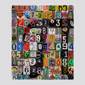 Places of Pi Throw Blanket