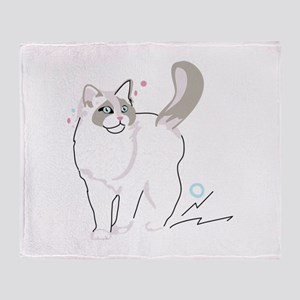 Ragdoll cat Throw Blanket