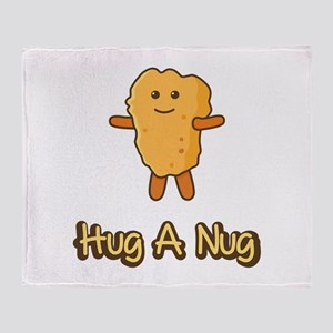 Hug A Nug Chicken Nugget Throw Blanket