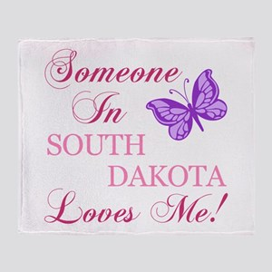 South Dakota State (Butterfly) Throw Blanket