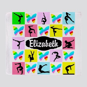 LOVELY GYMNAST Throw Blanket