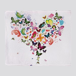 Heart of Butterflies Throw Blanket