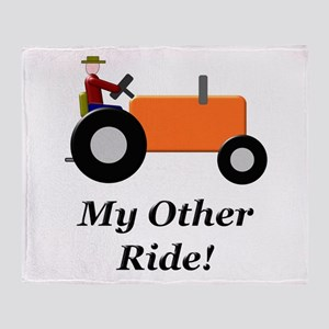 My Other Ride Orange Throw Blanket
