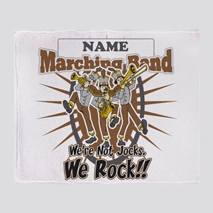 Marching Band Rocks(Brown) Throw Blanket