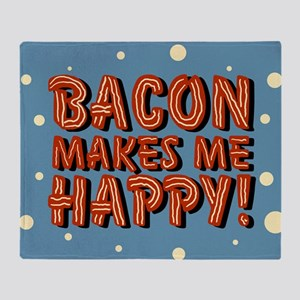 bacon-makes-me-happy_b Throw Blanket