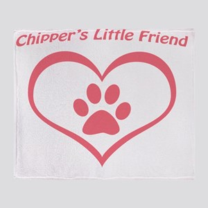 Chippers Little Friend:  Baby Pink Throw Blanket