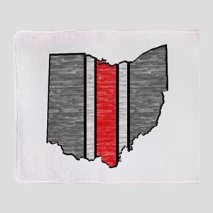 FOR OHIO Throw Blanket