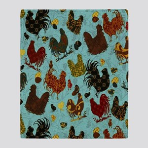 Tossed Chickens Throw Blanket