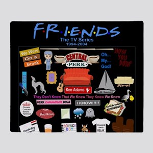 Friends TV Show Collage Throw Blanket