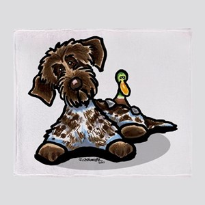 Funny Pointing Griffon Throw Blanket