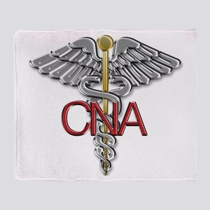 CNA Medical Symbol Throw Blanket
