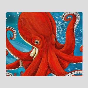 Octopus Painting Throw Blanket