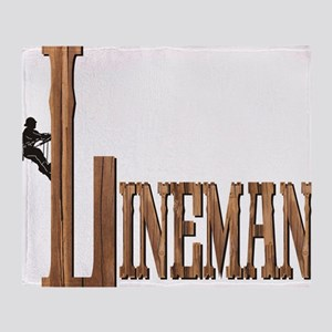 Lineman Wood Throw Blanket