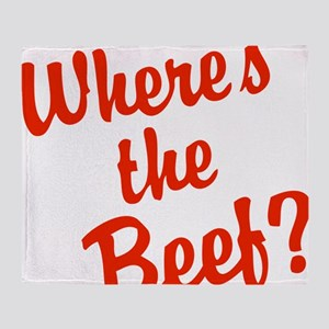 Where's The Beef? Throw Blanket