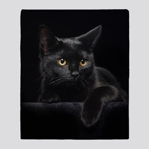 Black Cat Throw Blanket