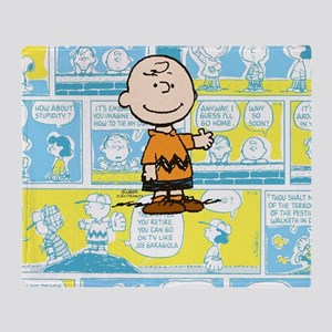 Charlie Brown Comic Strip Throw Blanket