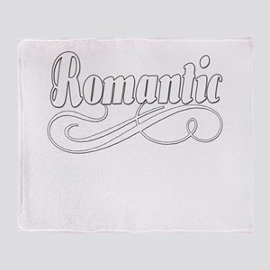 Just A Romantic Girl Throw Blanket