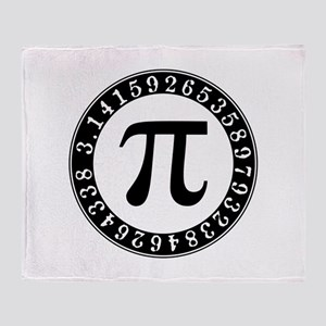 Pi symbol circle Throw Blanket