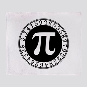Pi sign in circle Throw Blanket