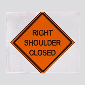 Right Shoulder Closed Throw Blanket