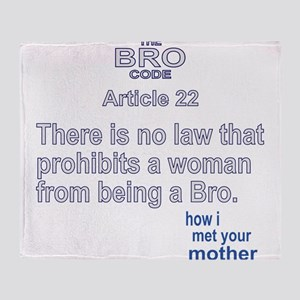 HIMYM BRO CODE 22 Throw Blanket