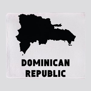 Dominican Republic Silhouette Throw Blanket