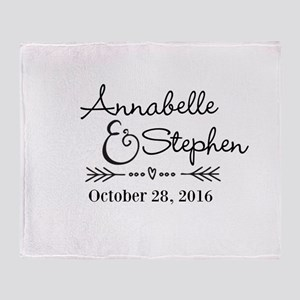Couples Names Wedding Personalized Throw Blanket