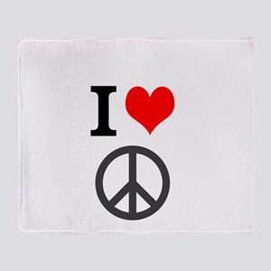 I love peace Throw Blanket