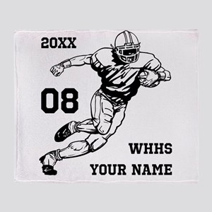 Football Player Name | Number Throw Blanket