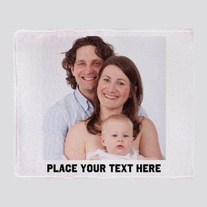 Photo Text Personalized Throw Blanket