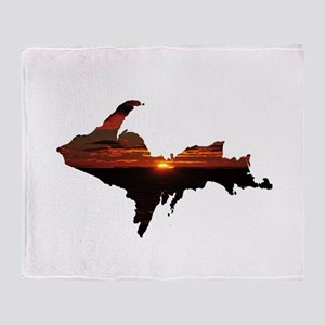 U.P. Sunrise Throw Blanket