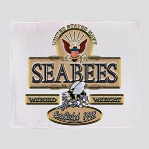 USN Seabees Est. 1942 Throw Blanket
