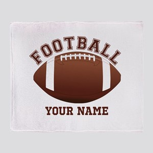 Personalized Name Footbal Throw Blanket