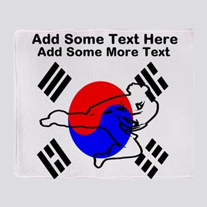 Taekwondo Personalized Throw Blanket